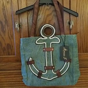 Mona B upcycled anchor tote
